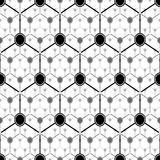 Graphite atom structure. Seamless vector pattern Royalty Free Stock Photo
