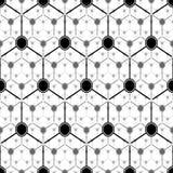 Graphite atom structure. Seamless vector pattern vector illustration