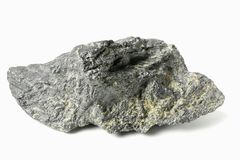 Graphite. From Bavarian Forest/ Germany isolated on white background stock photography