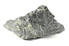 Graphite. From Bavarian Forest/ Germany isolated on white background stock image