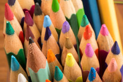 Graphite and colored pencils Royalty Free Stock Image