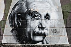Graphite of Einstein royalty free stock images