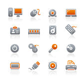 Graphite Icons // Computer & Devices Stock Image