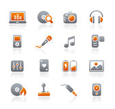 Graphite Icons // Media & Entertainment Stock Images