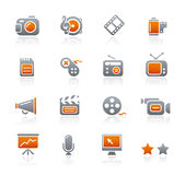 Graphite Icons // Multimedia Stock Photo