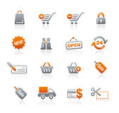 Graphite Icons  //  Shopping Stock Photography