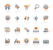 Graphite Icons // Web Site Royalty Free Stock Photos