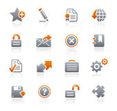 Graphite Icons // Web Site & Internet Stock Image