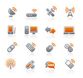 Graphite Icons // Wireless & Communications Royalty Free Stock Photography