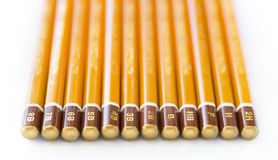 Graphite Pencil Collection. A collection of art graphite pencils of varying hardness Royalty Free Stock Photos