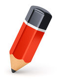 Graphite pencil icon. Red graphite pencil icon  on white background Stock Photography