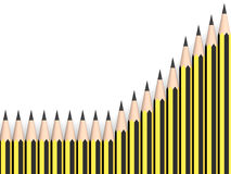 Graphite pencils. In yellow and black. 3d Illustration Royalty Free Stock Images