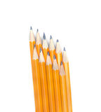 Graphite pencils arranged in two layers Stock Images