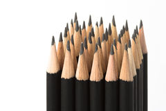 Graphite pencils in block Royalty Free Stock Image
