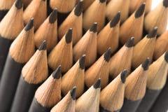 Graphite pencils close-up Royalty Free Stock Photos
