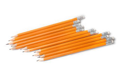 Graphite pencils isolated on white Stock Photos