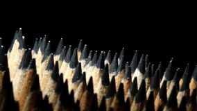 Graphite pencils in rotation stock footage