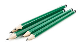 Graphite pencils on white background Royalty Free Stock Image