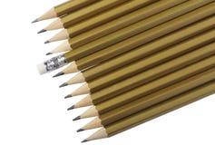 Graphite pencilsa of golden color Royalty Free Stock Photo