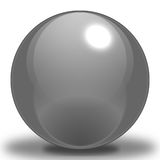 Graphite Sphere. A Graphite Sphere, contoured to make it look as if it were reflecting light, and Placed upon a shadow to show where it sits on the ground stock illustration