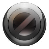 Graphite stop button. Stop button with reflections and refractions. Graphite look Stock Image