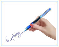 Graphology. Handwriting studying. Royalty Free Stock Photography