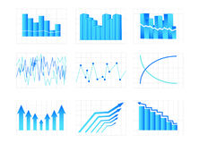 Graphs. Illustration of graphs, arrow, diagram Royalty Free Stock Images
