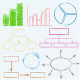 Graphs And Diagrams Royalty Free Stock Images