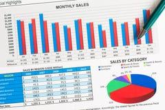 Graphs and charts Royalty Free Stock Photo