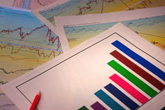Graphs & Charts Stock Photo