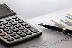 Graphs and charts Royalty Free Stock Photos