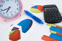 Graphs, charts, business table Royalty Free Stock Image