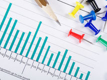 Graphs, charts, business table Royalty Free Stock Photo