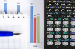 Graphs, charts, business table Stock Photo
