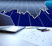 Graphs, charts, business table Royalty Free Stock Images