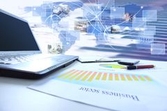 Graphs, charts, business table Stock Image