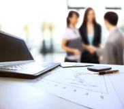 Graphs, charts, business table. Royalty Free Stock Photography
