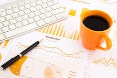 Graphs, charts, data report Royalty Free Stock Photo