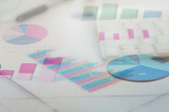 Graphs and charts Royalty Free Stock Photography