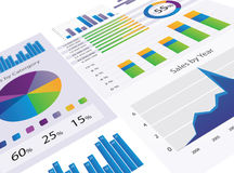 Graphs and Charts. Gorgeous series of modern graphs and charts Royalty Free Stock Images