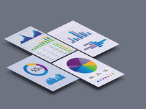 Graphs and Charts. Gorgeous series of modern graphs and charts Stock Photo