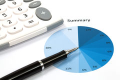 Graphs and Charts Report Stock Images