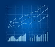 Graphs and charts set. Background Royalty Free Stock Photos