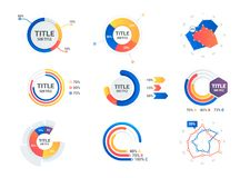 Graphs and charts set. Statistic and data. Information  infographic, vector illustration Royalty Free Stock Images