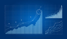 Graphs and charts. Stock Images