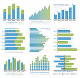 Graphs and Charts royalty free illustration