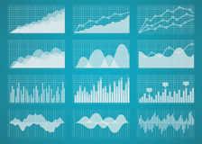 Graphs and charts vector set. Graphs and charts set. Statistic and data, information  infographic, vector illustration Royalty Free Stock Images