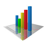 Graphs. Colored graphs on 3D style vector illustration
