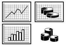 Graphs and Diagrams. JPG + Vector stock illustration