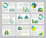 Graphs Flat Concept Stock Photo